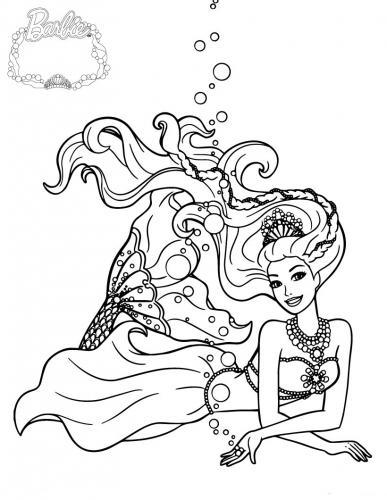 disegni di barbie sirena