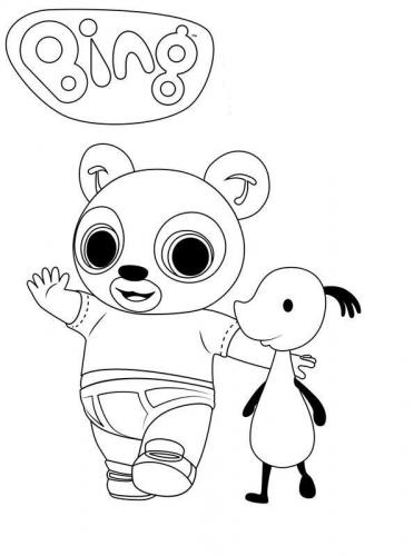disegni di bing da colorare