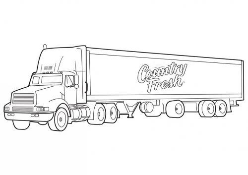 disegni d camion da colorare