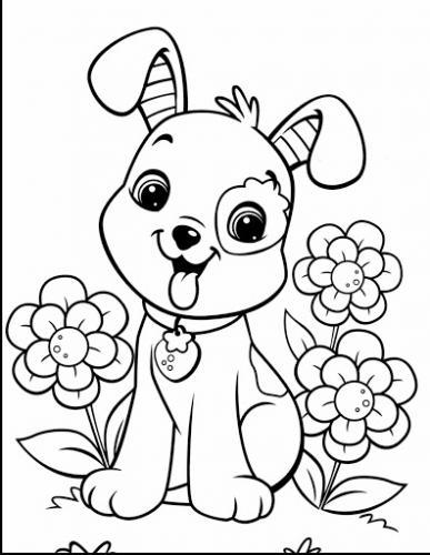 disegni di cani facili per bambini