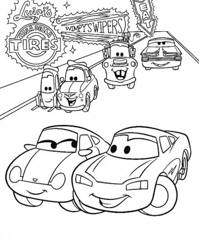 disegni di cars