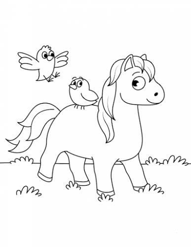 disegni di cavalli da stampare e colorare