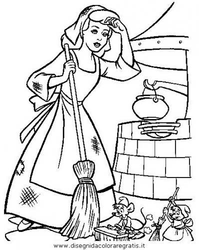 Cenerentola fa le faccende di casa