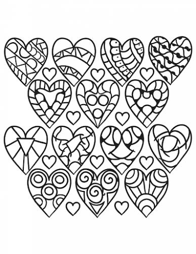 disegni di cuori da stampare