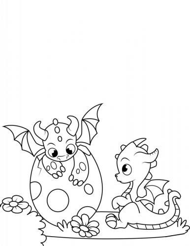 disegni di draghi da colorare