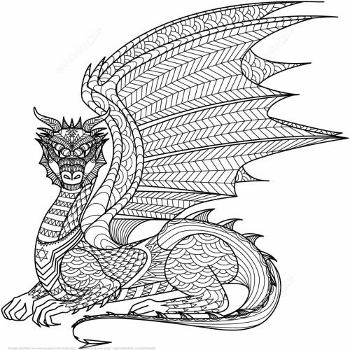 disegni di draghi da stampare
