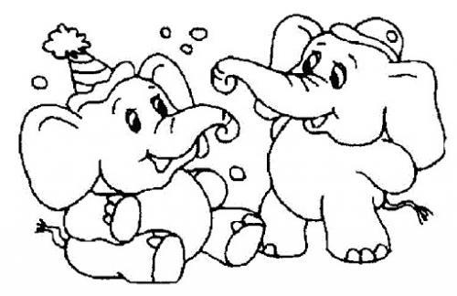 disegni di elefanti
