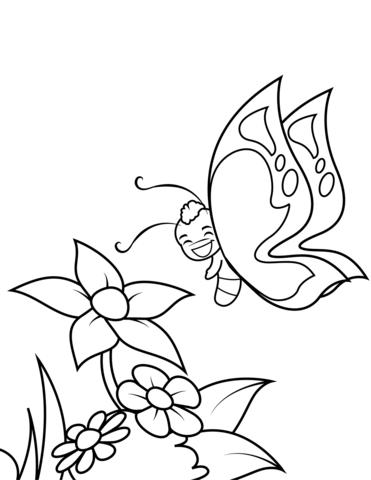 disegni di farfalle e fiori