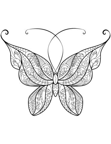 disegni di farfalle stilizzate