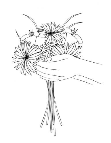 disegni di fiori a matita