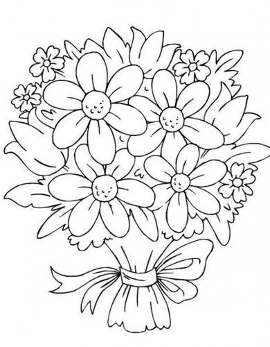 disegni di fiori colorati