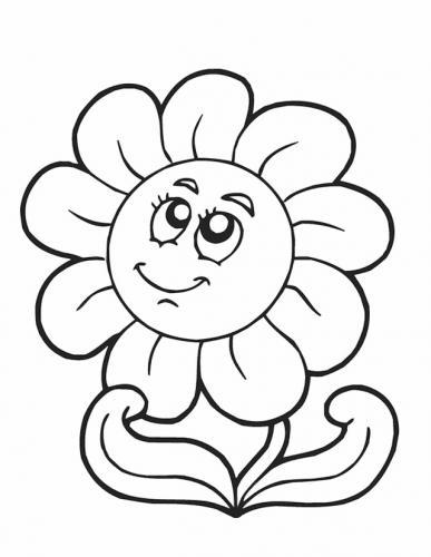 disegni di fiori per bambini