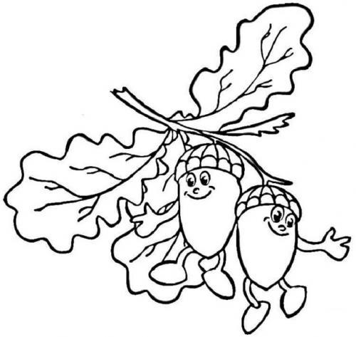 disegni di foglie autunnali da colorare