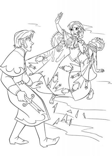 Il principe Hans contro Anna ed Elsa