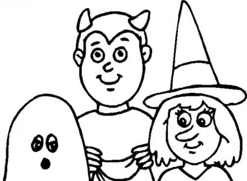 bambini vestiti da Halloween