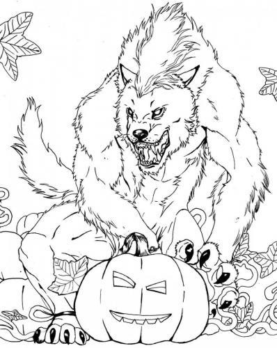 disegno lupo mannaro