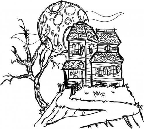 casa stregata di Halloween