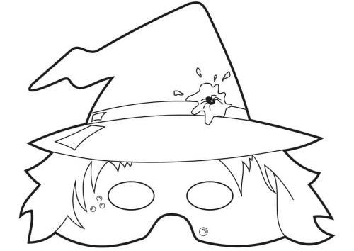 maschera con cappello