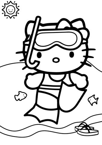 disegni di hello kitty da stampare
