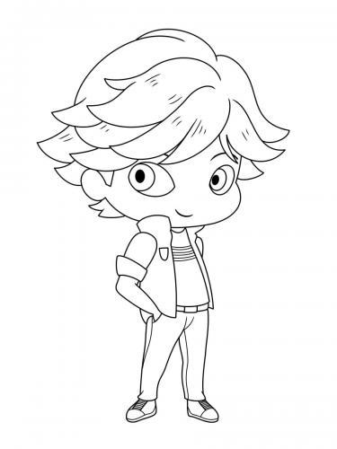 disegni di Ladybug da colorare: Chat Noir