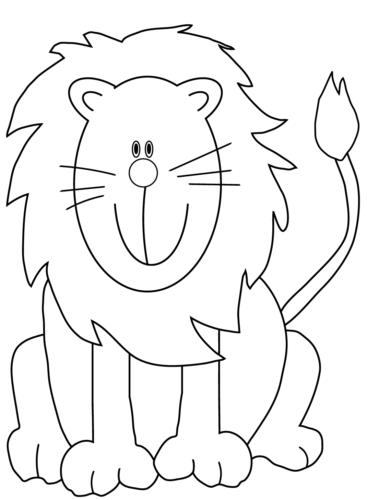 disegni di leone da colorare