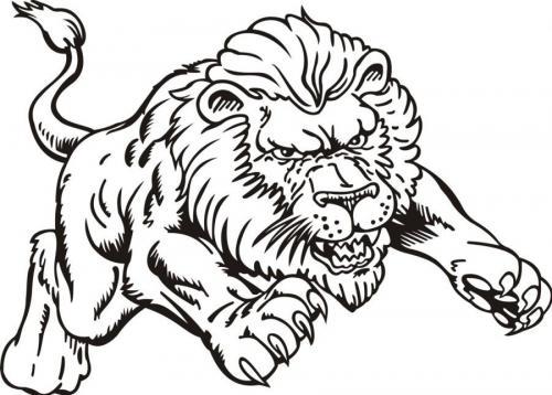 disegni di leoni