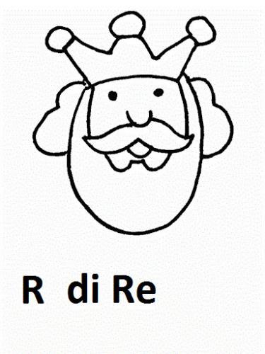 disegni di lettere R