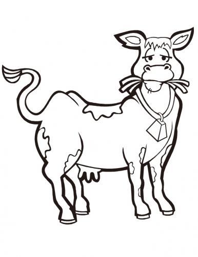disegno mucca che mangia