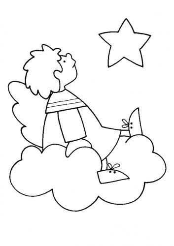 Angelo su una nuvoletta