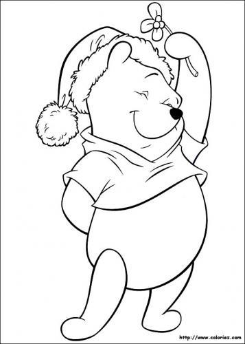 Winnie the Pooh con il cappello di Babbo Natale