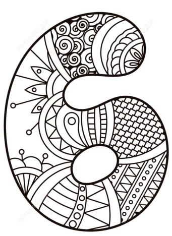 disegni di numeri da colorare 6