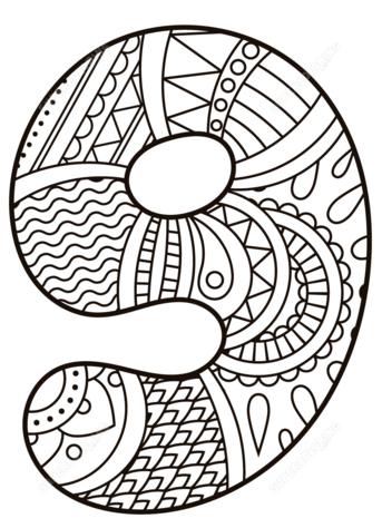 disegni di numeri da colorare e stampare 9