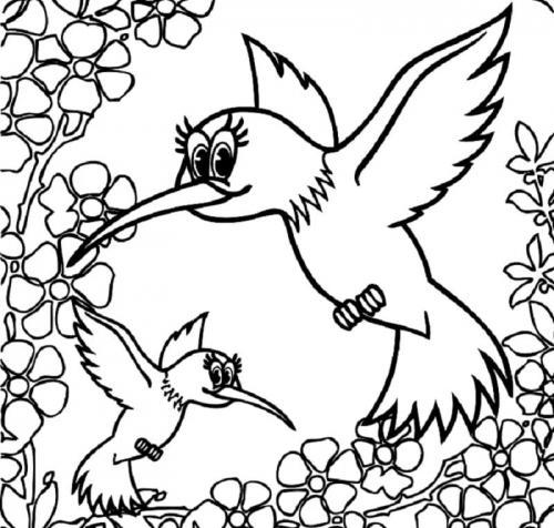 immagine di due uccelli tra i fiori