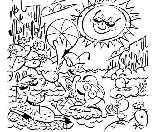 disegni di un paesaggio estivo