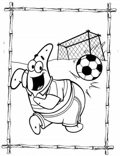 Patrick gioca a calcio