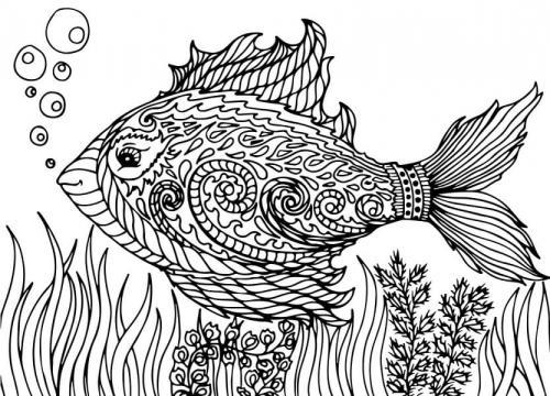 pesce stilizzato che nuota