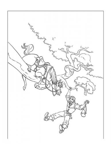 disegni di rapunzel da colorare gratis