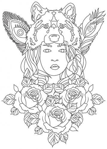 donna tra le rose