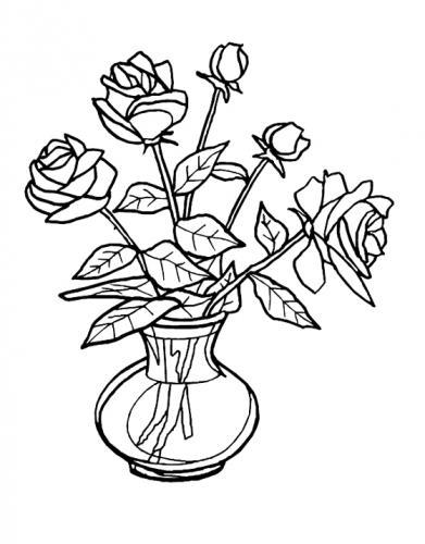 rose in un vaso