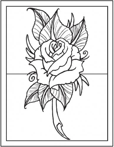 disegni di rose rosse