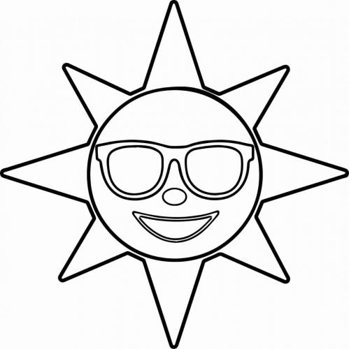 sole sorridente con gli occhiali da sole