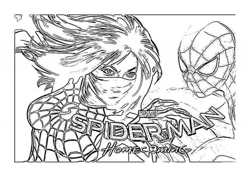 disegni di spiderman da colorare e stampare