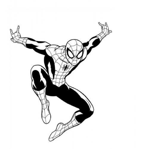 disegni di spiderman da colorare per bambini