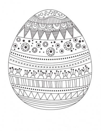 disegni di uova di pasqua da colorare