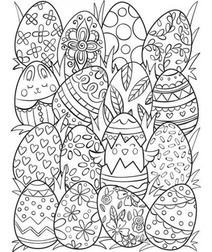 disegni di uova di pasqua