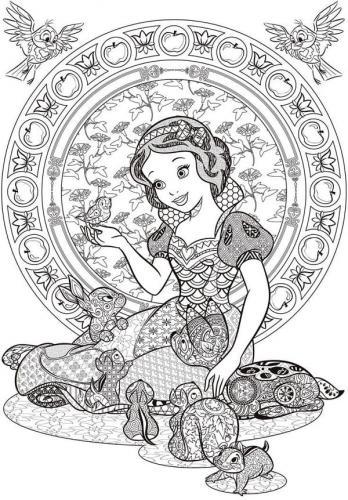 disegno Biancaneve