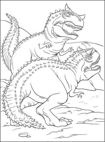 disegni dinosauri da colorare e stampare