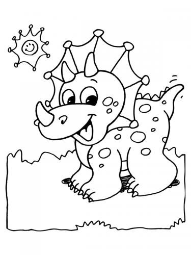 disegni dinosauri da colorare per bambini