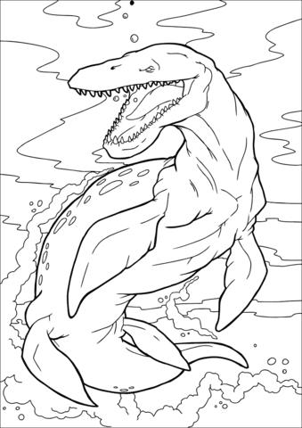 disegni dinosauri da stampare e colorare