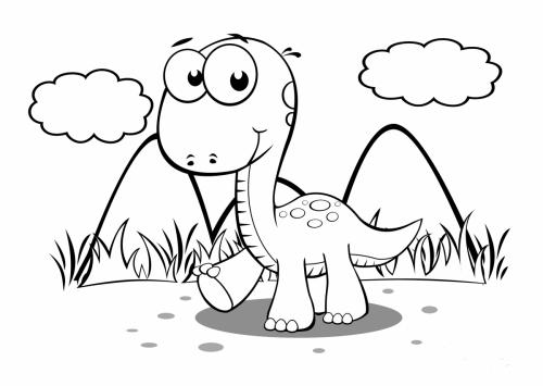 disegni dinosauri per bambini
